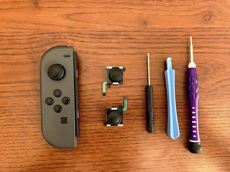 Замена стика, набор отверток nintendo switch