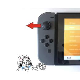 Nintendo Switch левый стик самопроизвольно срабатывает влево