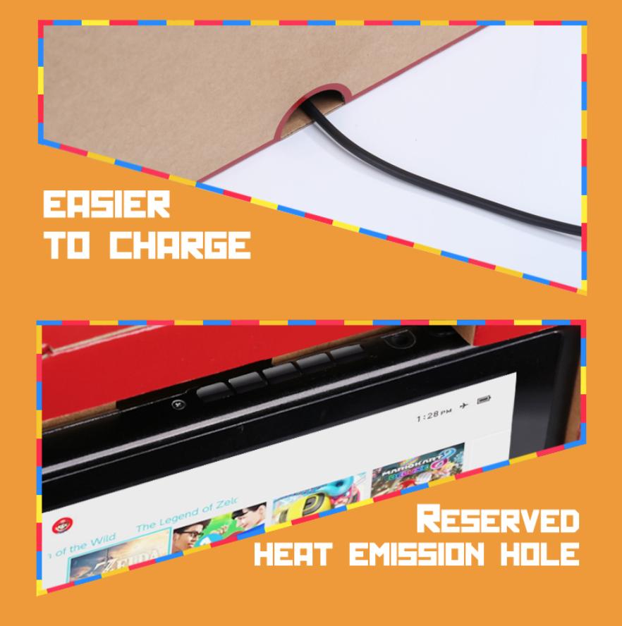 Мини, Портативная, Складная подставка для переключателя, консоль NS NX Joy Con DIY Labo, картонная бумага, аркадная станция, кронштейн, симулятор.