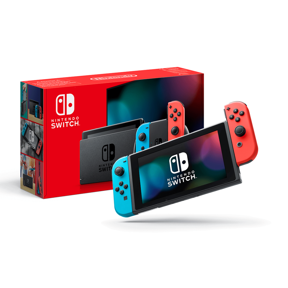 Купить Nintendo Switch Neon Blue-Red Upgraded version в Украине, Оригинальная Нинтендо Свитч с гарантией, nintendo switch купить дешево Украина