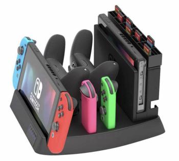 Подставка для зарядки Nintendo Switch и аксессуаров 4 в 1