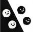 купить милые накладки привидения на стики, накладки на стики черные белые Nintendo Switch, купить силиконовые накладки Nintendo Switch Lite