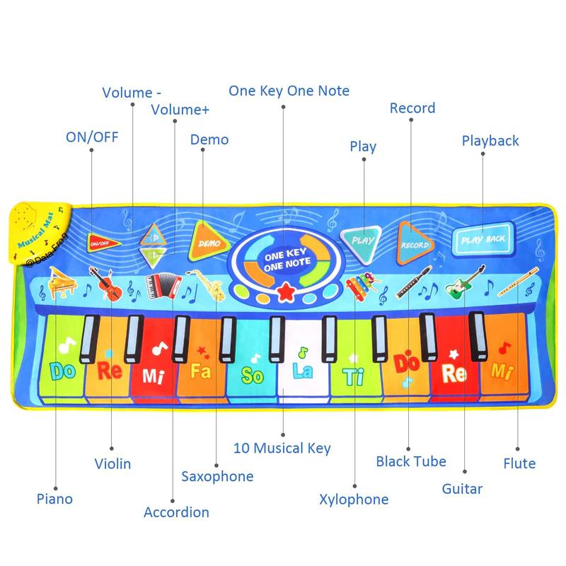 купить музыкальный коврик пианино, купить детский музыкальный коврик пианино украина