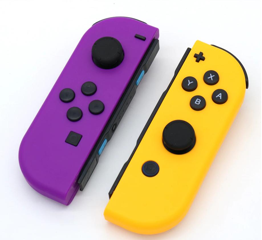 Купить фиолетово-жёлтые Joy-con от Erilles для Nintendo Switch, джойконы хорошего качества для Нинтендо Свитч