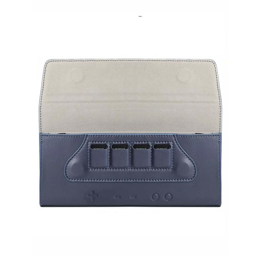 Синий кожаный чехол Nintendo Switch. Купить чехол для нинтендо свитч. Лучший чехол.