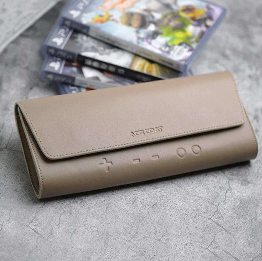 Бежевый кожаный чехол Nintendo Switch. Купить чехол для нинтендо свитч. Лучший чехол.