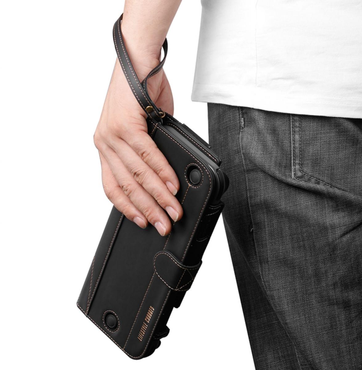Черный кожаный чехол - подставка Nintendo Switch. Купить чехол для нинтендо свитч. Лучший чехол.